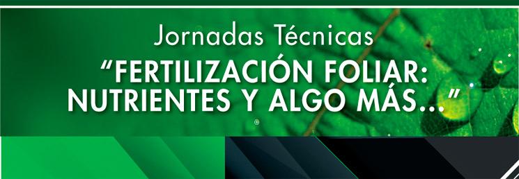 """Jornada Técnica """"Fertilización Foliar: Nutrientes y algo más…"""""""